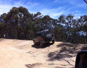 Jeep on 18degree slope
