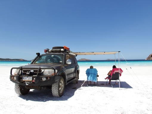 This is how you do a day at the beach, Lucky Bay
