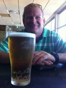 Craig enjoying a cold one on Australia Day