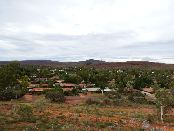Tom Price town from lookout
