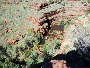 Looking down into Dales Gorge