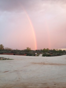 Rainbow over Hamelin Station