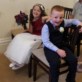 The flower girl and page boy