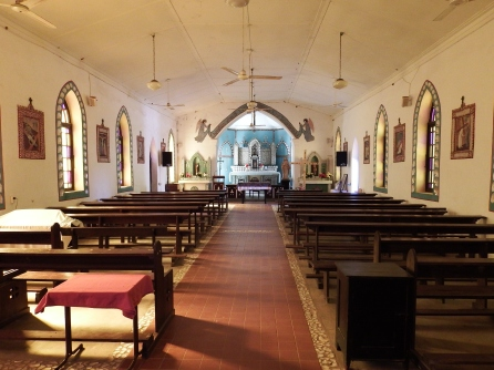Interior of Beagle Bay church