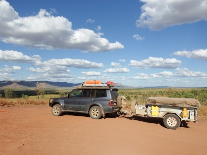 Our rig - a little bit dusty on the Gibb River Road