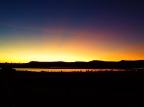 Sunrise over the Cockburn Ranges