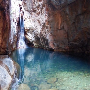 The waterfall and swimming hole at the end of El Questro Gorge