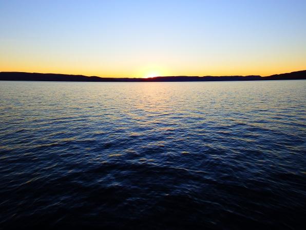 Sun setting on Lake Argyle