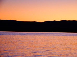 Sunset on Lake Argyle