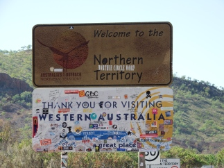 WA/NT Border Sign