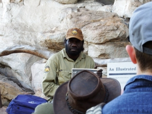 Marcus explaining the Ubirr rock art