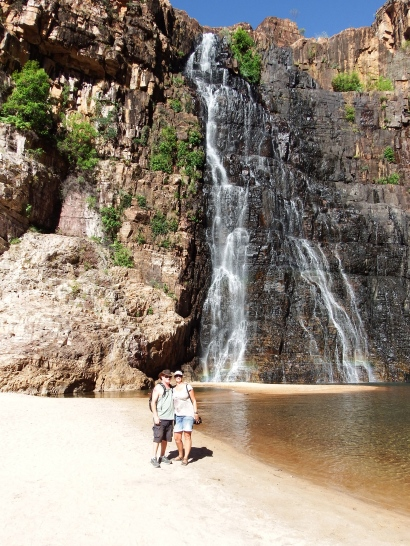 Us at Twin Falls, Kakadu NP
