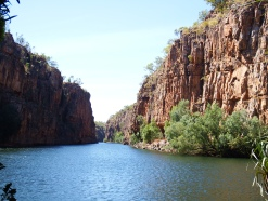 Katherine River, view at end of the Butterfly Gorge