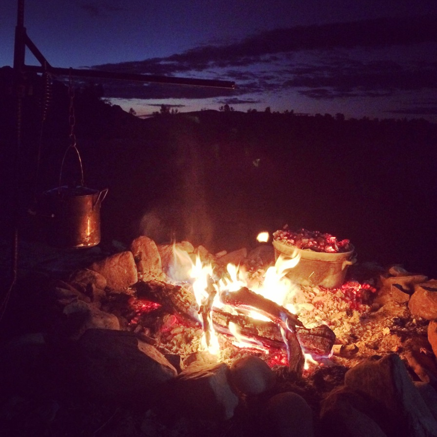 Campfire at Two Mile, Red Centre