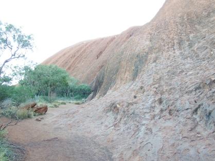 Uluru up close on the base walk