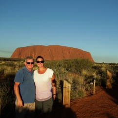 Craig and Emma at Uluru