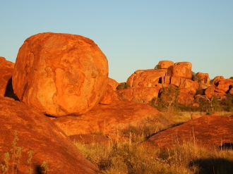 Sunset at the Devils Marbles