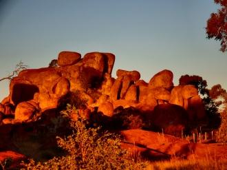 Devils Marbles at sunset