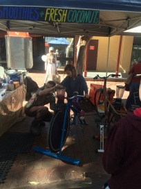 Cycle for your smoothie at Todd St Market