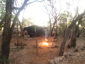 Cooking on the campfire at Adels Grove