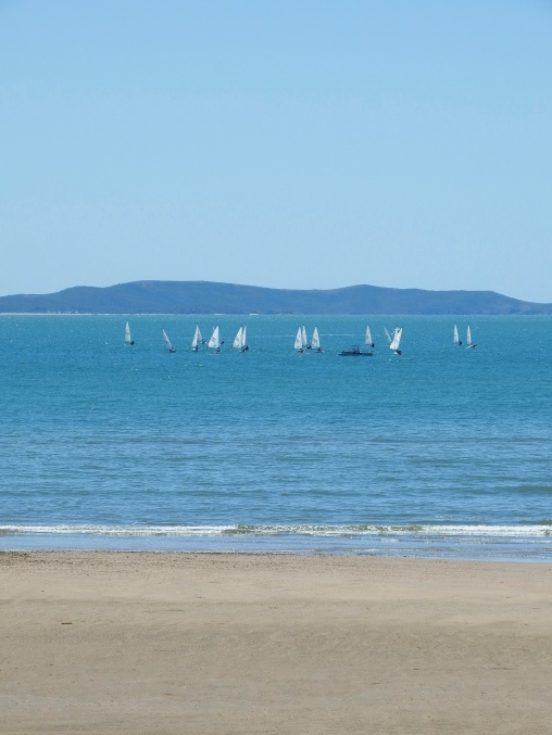 Yeppoon - yacht club juniors out on the water