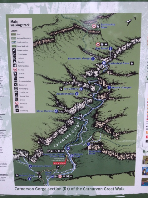 The map trail