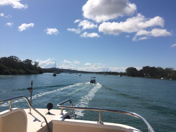 Cruising down the Noosa River