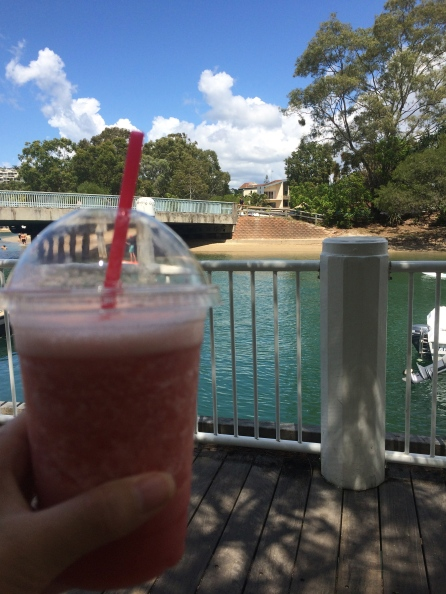 Watermelon juice in Noosa